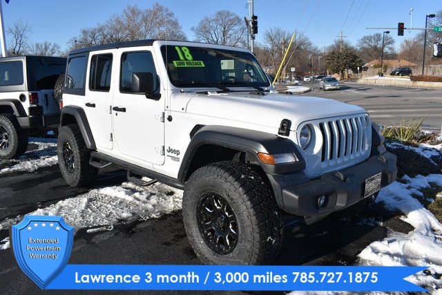 Jeep Wrangler Unlimited Sport >> Pre Owned 2018 Jeep Wrangler Unlimited Sport 4wd