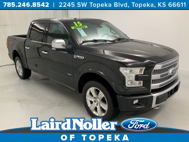 Pre Owned 2015 Ford F 150 Platinum 4d Supercrew In Topeka 1zk5720